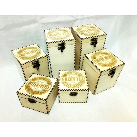 Коробка для кофе и чая средняя